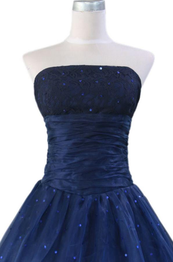 maturitní plesové šaty modré - XS-XXL - plesové šaty 657d235016